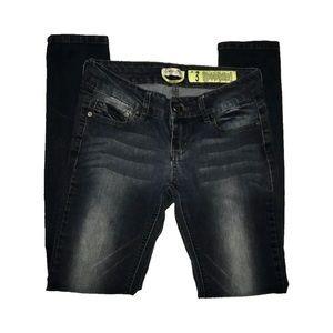 Indigo Rein dark fade stretch skinny jeans